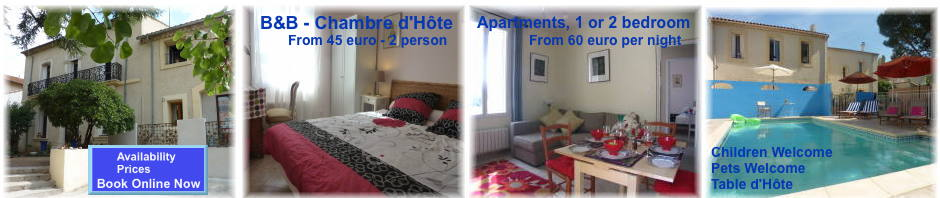 vila roquete apatments and guest house with b&b in the south of france