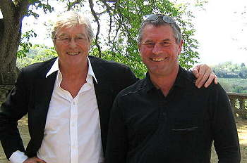 Tony Tidswell and Peter mayle