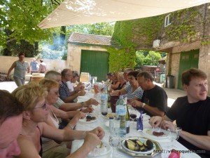 A lunch after picnics foie gras and wine in the morning