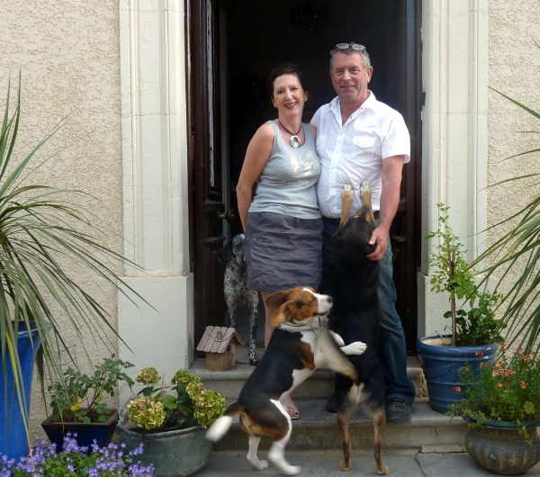Carole and Tony (where did those dogs come from)
