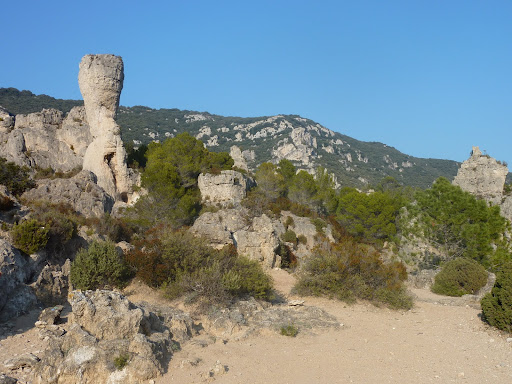 Dolomite rock formations at Moreze near the best B&B in France, Villa Roquette in Languedoc