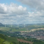 The viaduct at Millau France an the way to Villa Roquette B&B