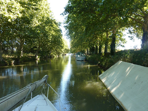 The canal du Midi at Narbonne near our B&B at Villa Roquette in Languedoc France