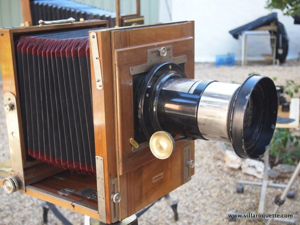 Full Plate Camera with 385mm Rodenstock Petzval portrait lens for Collodion workshop