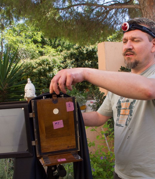 Wetplate collodion photography workshop at VillaRoquette