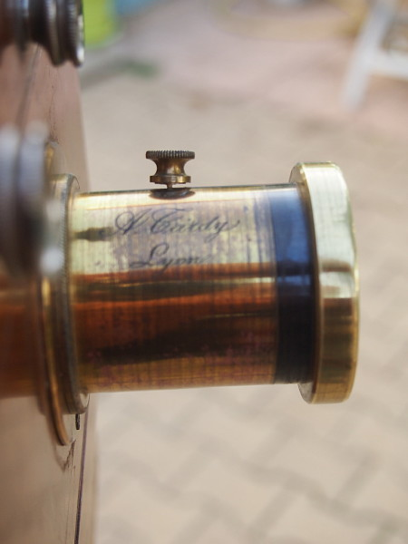 lens made by Tardy of Lyon for the hal plate camera